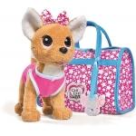 Купить 99169 Плюшевая собачка Звездный стиль, с сумочкой 20 см Chi Chi love Simba