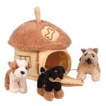 Купить 992191 Мягкая игрушка Домик-сумка с тремя собачками Gulliver