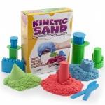 Купить 99551 Кинетический песок 3 кг (три цвета: синий, зеленый, красный) WABA FUN