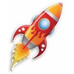 Купить 992343 Детский Ночник Ракета In My Room Uncle Milton