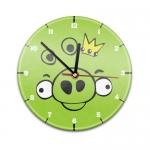 Купить 99817 Настенные часы с текстурой Angry Birds