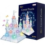 Купить 99874 Кристаллический 3D Пазл Замок с подсветкой Crystal puzzle