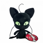 Купить 99832 Мягкая игрушка Плаг питомец Супер Кот 15 см Miraculous Ladybug Bandai
