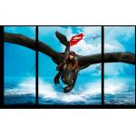 """Купить 999165 Модульная картина для детской """"Как приручить дракона. Икинг и Беззубик"""""""