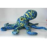 *BP0019 Мягкая игрушка Осьминог синий 36 см
