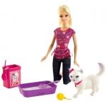 """Купить 99DH76 Кукла """"Барби ухаживает за кошечкой"""" Серия Семья Barbie Mattel"""