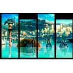 """Купить 99176 Модульная картина для детской """"Мадагаскар"""""""