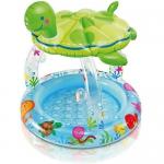 """Купить 9957401 Надувной детский бассейн с навесом """"Морская черепашка"""" Intex"""