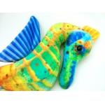 *NS0082 Мягкая игрушка Морской конек Самоцвет 32 см Абвгдейка
