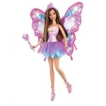 Купить 9966W Кукла Фея с волшебной палочкой Барби Фиолетовая Barbie Mattel
