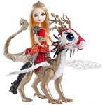 Купить 99DKM76 Кукла Эппл Вайт с драконом Игры драконов Ever After High Mattel
