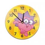 """Купить 99019V Настенные часы с текстурой Ёжик """"Смешарики"""""""