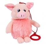 Купить 990491 Мягкая игрушка Свинка пушистая озвученная 16 см Chuzhou