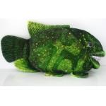 *SW-0052 Мягкая игрушка Рыба улыбающаяся зеленая 45 см