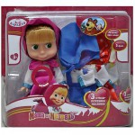 Купить 99534 Кукла Маша (с комплектами одежды) со звуком Маша и Медведь Карапуз