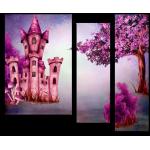 """99166 Модульная картина для детской """"Замок Ведьмочек Фили Filly"""""""