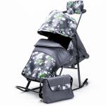 Купить 99822 Санки-коляски Kristy Comfort Снежинки + варежки и сумка