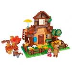Купить 99640 Конструктор Дом Мишки 163 детали Маша и Медведь Big