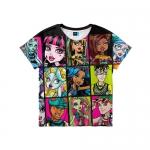 0124 Детская футболка 3D Герои Монстер Хай Monster High