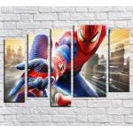 """99162 Модульная картина для детской """"Человек Паук Spider Man"""""""