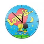 Купить 99018V Настенные часы с текстурой Love is