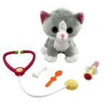 991012R Пушистые друзья. Мягкая игрушка котенок с аксессуарами для лечения
