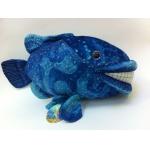 *SW-0052 Мягкая игрушка Рыба улыбающаяся синяя 45 см