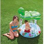 """9957401 Надувной детский бассейн с навесом """"Морская черепашка"""" Intex"""