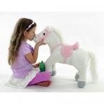 """*91203R-HWH Мягкая интерактивная игрушка """"Пони белая"""" Тeeboo"""