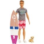 Купить 990013 Кукла Кен со щенком «Морские приключения» Barbie Mattel