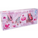 99033 Коляска для куклы 3-х колесная Agatka