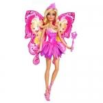 Купить 992965 Кукла Фея с волшебной палочкой Барби Розовая Barbie Mattel