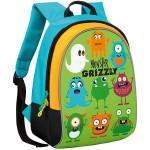 """Купить 99878 Школьный рюкзак """"Monster Grizzly"""" Салатовый Grizzly"""