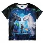 Купить 990076 Футболка детская Беззубик и Дневная Фурия 3D «Как приручить дракона 3»