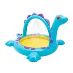 Купить 99025 Бассейн с распылителем воды Динозаврик Intex