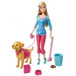 """Купить 99DH74 Кукла """"Барби выгуливает собачку"""" Серия Семья Barbie Mattel"""