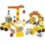 Купить 994078 Конструктор Строительная техника с краном 67 деталей Ecoiffier