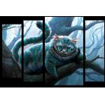 """Купить 99169 Модульная картина для детской """"Чеширский кот"""""""