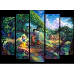 """99178 Модульная картина для детской """"Белоснежка и семь гномов"""""""