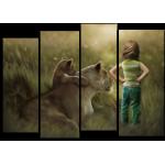 """Купить 99177 Модульная картина для детской """"Маленькая дружба"""""""