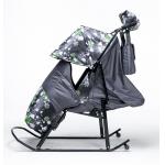 99822 Санки-коляски Kristy Comfort Снежинки + варежки и сумка