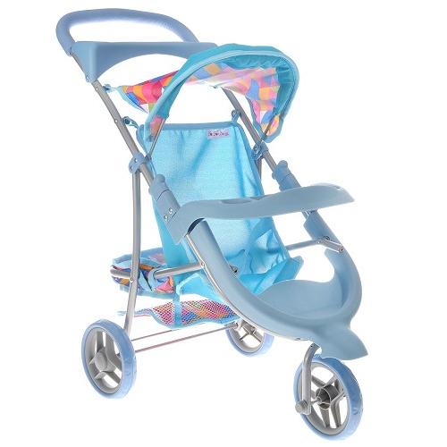 Bon Bon Berry Трехколесная коляска для кукол цвет голубой бирюзовый 9614