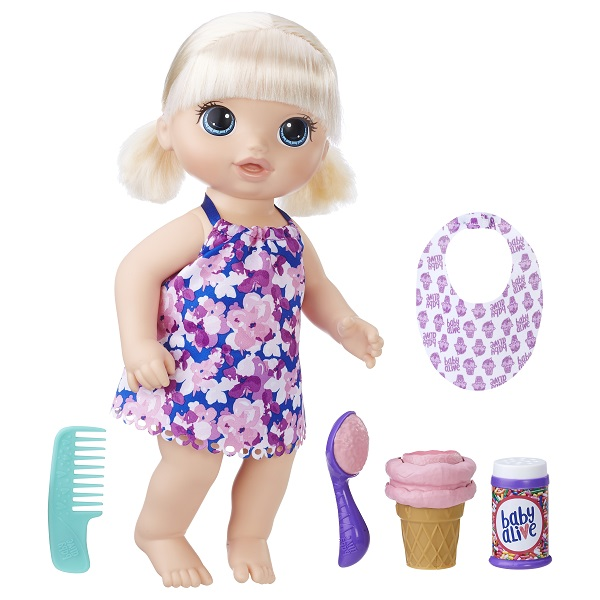 Кукла Baby Alive Малышка с мороженным Hasbro C1090