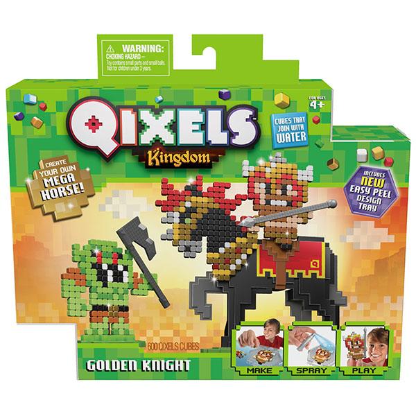 Квикселс Набор для творчества Королевство. Золотой рыцарь Qixels 87130
