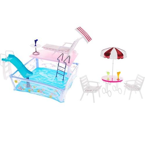 Мебель для кукол Отдых у бассейна Gloria 2578