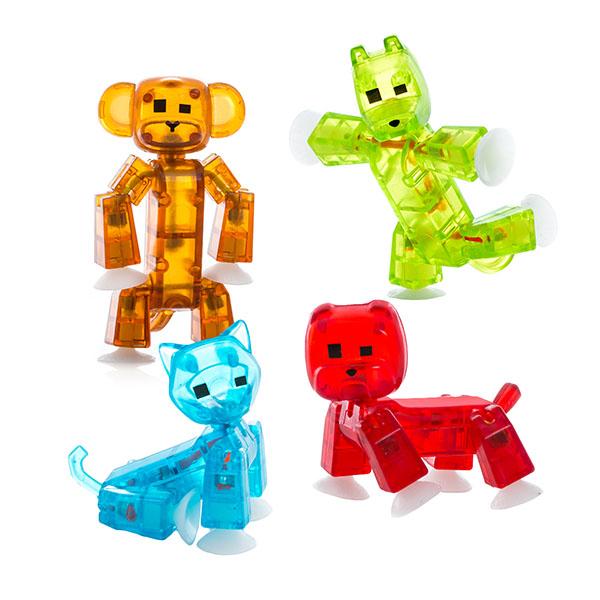 Стикбот Фигурка питомца (кот, пёс, мартышка и бульдог) Stikbot TST622